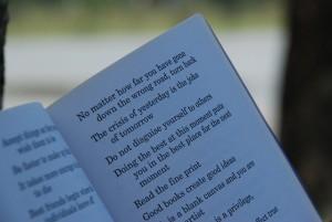 poetry reading, open mic